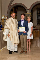 2017 - Cathedral 8th Grade Receiving Certificates